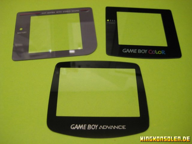Gameboy Glasdisplayscheiben